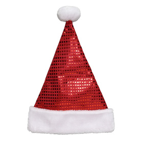 Holiday Living One Size Fits All Velvet Traditional Santa Hat 04089561LO