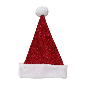 Holiday Living One Size Fits All Tinsel Knit Velvet Traditional Santa Hat 04089891LO