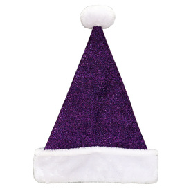Holiday Living One Size Fits All Tinsel Knit Velvet Traditional Santa Hat 04089895LO