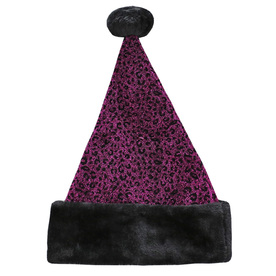 Holiday Living One Size Fits All Metallic Velvet Traditional Santa Hat 04089962LO