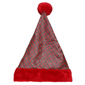 Holiday Living One Size Fits All Metallic Velvet Traditional Santa Hat 04091611LO
