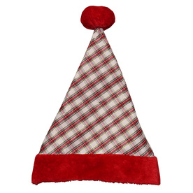 Holiday Living One Size Fits All Metallic Velvet Traditional Santa Hat 04091612LO