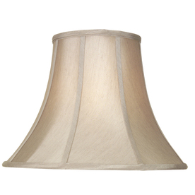 Shop lamp shades at lowes display product reviews for 125 in x 17 in silken toast fabric bell lamp aloadofball Choice Image