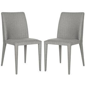 Set of 2 Fox Linen Gray Side Chairs - Safavieh FOX2019G-SET2