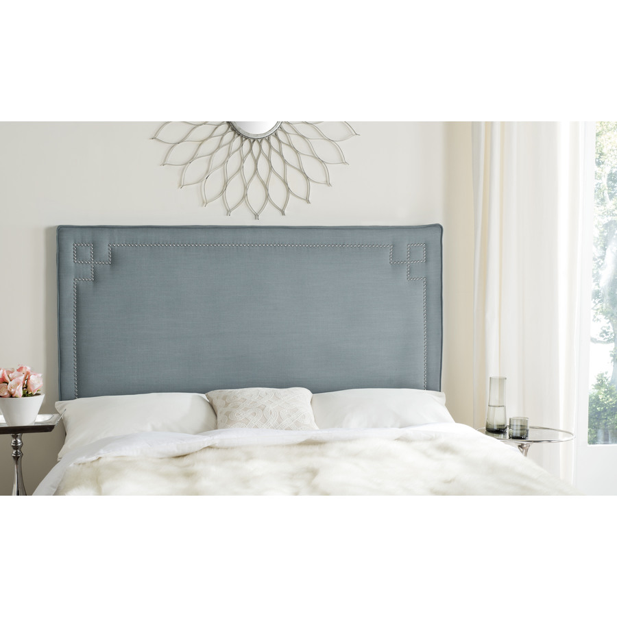 Safavieh Safavieh Remington Blue Queen Linen Upholstered Headboard Mcr4014b From Lowe S Daily Mail
