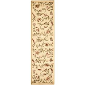Safavieh Lyndhurst Floral Swirl Ivory Indoor Nature Runner 2 x 8 LNH552-1291-28, White
