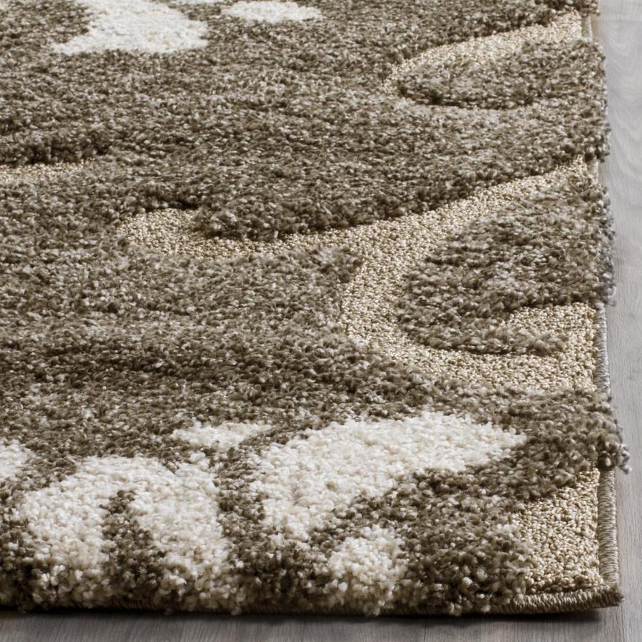 Safavieh Florida Aero Shag 8 X 10 Smoke Beige Indoor Floral Botanical Area Rug In The Rugs Department At Lowes Com