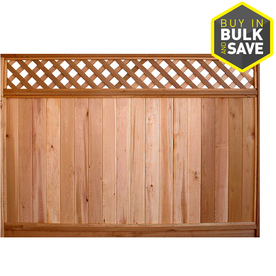 Shop Severe Weather Western Red Cedar Wood Fence Panel