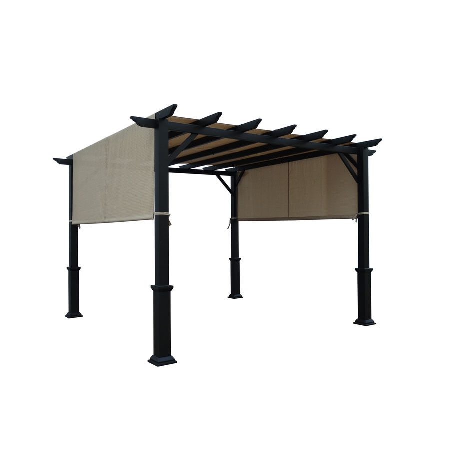 Shop Garden Treasures Matte Black Steel Freestanding