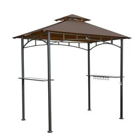 Display product reviews for Brown Steel Rectangle Grill Gazebo (Exterior 4.99-ft x  sc 1 st  Loweu0027s & Shop Gazebos at Lowes.com
