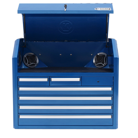 Shop Kobalt 6 Drawer 35 In Steel Tool Chest Blue At