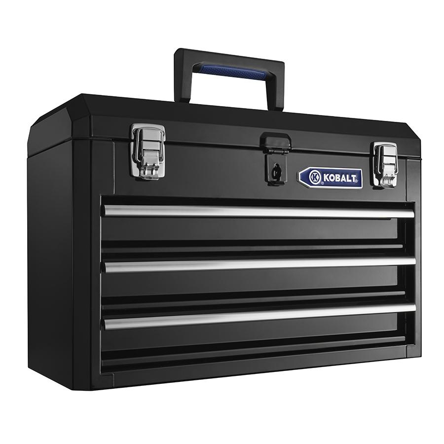Kobalt Tool Box Chest 3 Drawer Portable Toolbox Storage