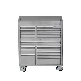 3000 53-In W X 68.7-In H 18-Drawer Stainless Steel Rolling Tool Cabinet (Stainless Steel) - Kobalt SHS53SSKS
