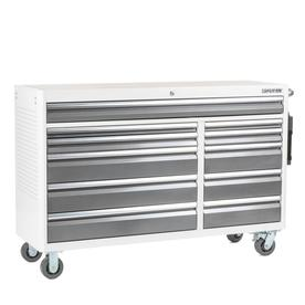 3000 64.5-In W X 41-In H 11-Drawer Steel Rolling Tool Cabinet (White) - Kobalt SHSP2CARTWG18