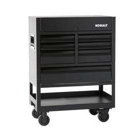 3000 35-In W X 47-In H 7-Drawer Steel Rolling Tool Cabinet (Black) - Kobalt SHS35MWCP218