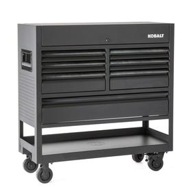 3000 45-In W X 47-In H 7-Drawer Steel Rolling Tool Cabinet (Black) - Kobalt SHS45MWCP218