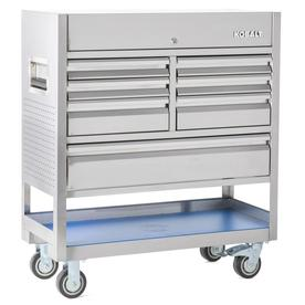 3000 41-In W X 47-In H 7-Drawer Stainless Steel Rolling Tool Cabinet (Stainless Steel) - Kobalt SHSWCSSP2