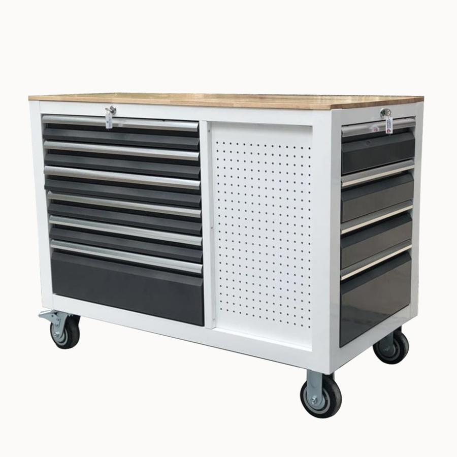 3000 48-In W X 37-In H 10-Drawer Steel Rolling Tool Cabinet (White) - Kobalt SHS48WS