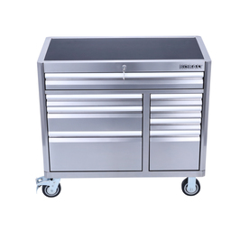 3000 Series 41-In W X 37.5-In H 8-Drawer Stainless Steel Rolling Tool Cabinet (Stainless Steel) - Kobalt SHS41SSRC8D