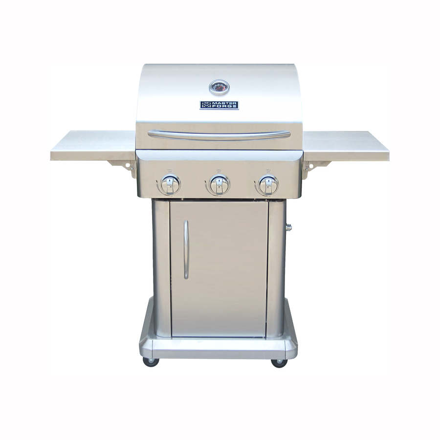Patio Gas Grills Lowes: Shop Master Forge Outdoor Grill 3-Burner (36,000-BTU