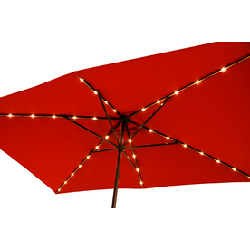 display product reviews for red market pre lit 7 ft w x 105 - Rectangle Patio Umbrella
