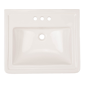 Aquasource White Drop In Oval Bathroom Sink With Overflow