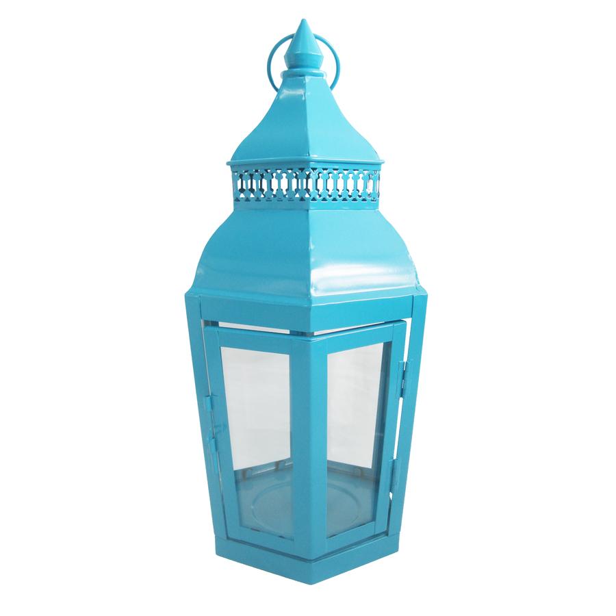 Shop Garden Treasures 14.76-in H Light Blue Metal Outdoor