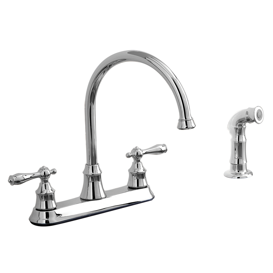 Aquasource Kitchen Faucet: Shop AquaSource Chrome 2-Handle High-Arc Kitchen Faucet
