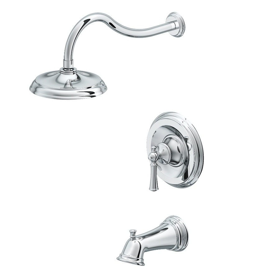Shop Aquasource Glyndon Polished Chrome 1 Handle Bathtub