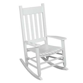 Shop Garden Treasures White Patio Rocking Chair At Lowes Com