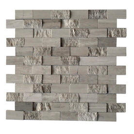 Shop Cci Driftwood Grey Subway Mosaic Wall Tile Common