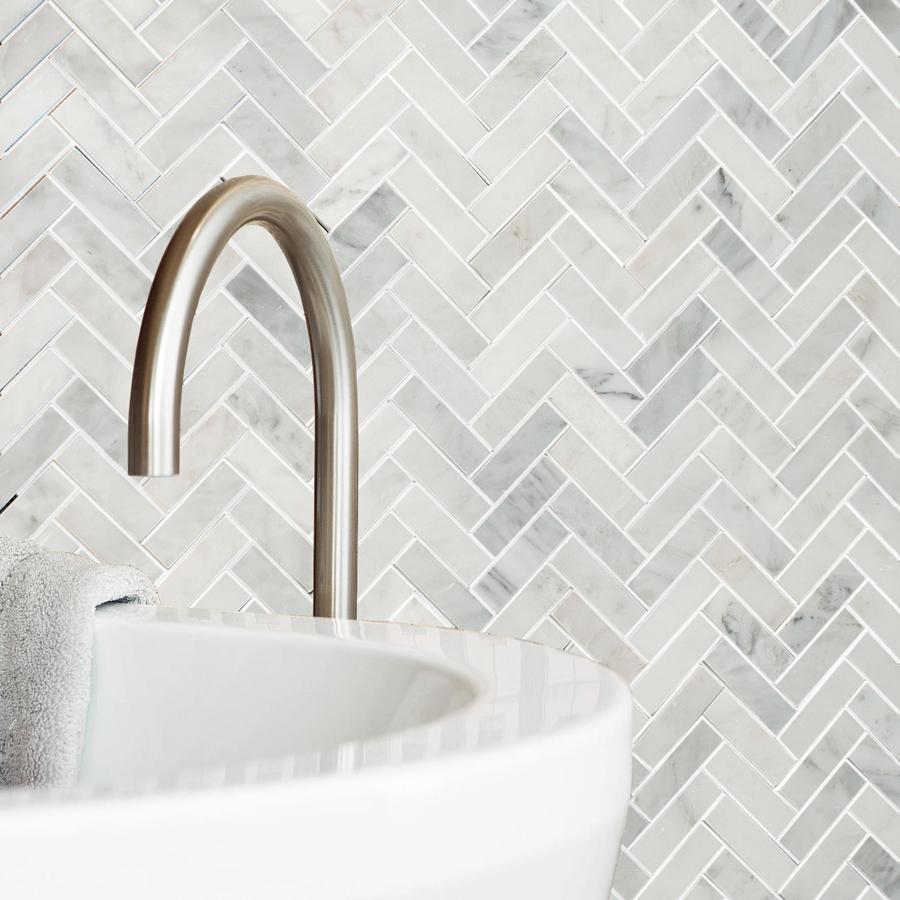 - Allen + Roth Genuine Stone White Marble Marble Floor Tile (Common