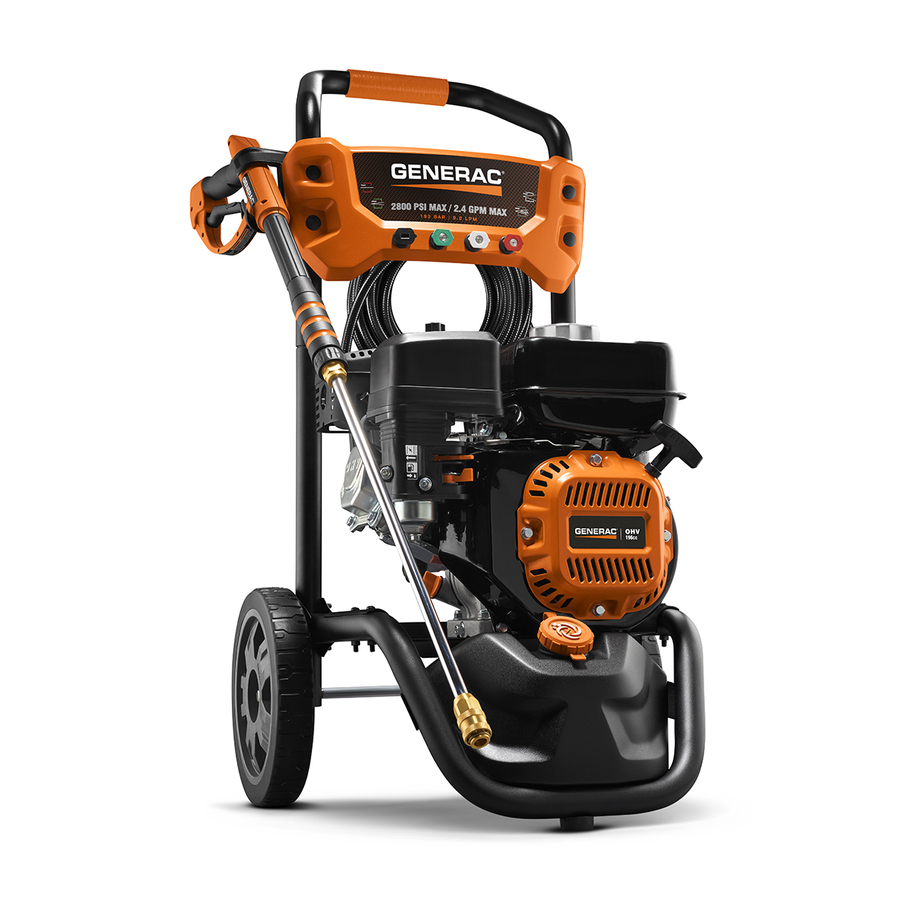 Generac Residential 2800-PSI 2.4-GPM Cold Water Gas Pressure Washer CARB in Orange | 6922