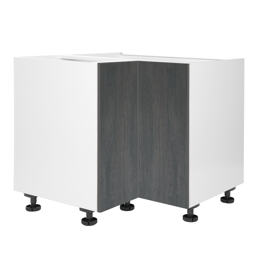 36-in W x 34.5-in H x 24-in D Carbon Marine Wood Lazy Susan Corner Base Stock Cabinet in Gray | - Cambridge SA-BULZ36-CM