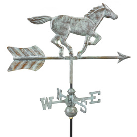Good Directions Blue Verde Copper Roof-Mount Horse Weathe...