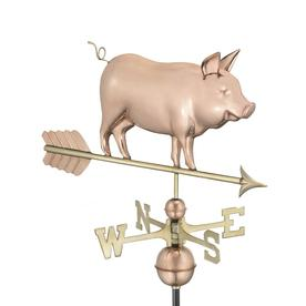 Good Directions Copper Roof-Mount Pig Weathervane 9550P