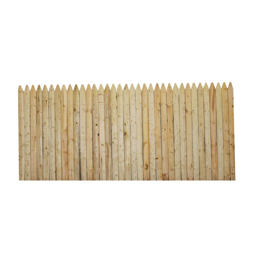 Shop Boundary 4 Ft X 8 Ft Spruce Stockade Wood Fence