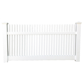 Shop Boundary Minnesota 4-ft x 8-ft White Stockade Privacy ...