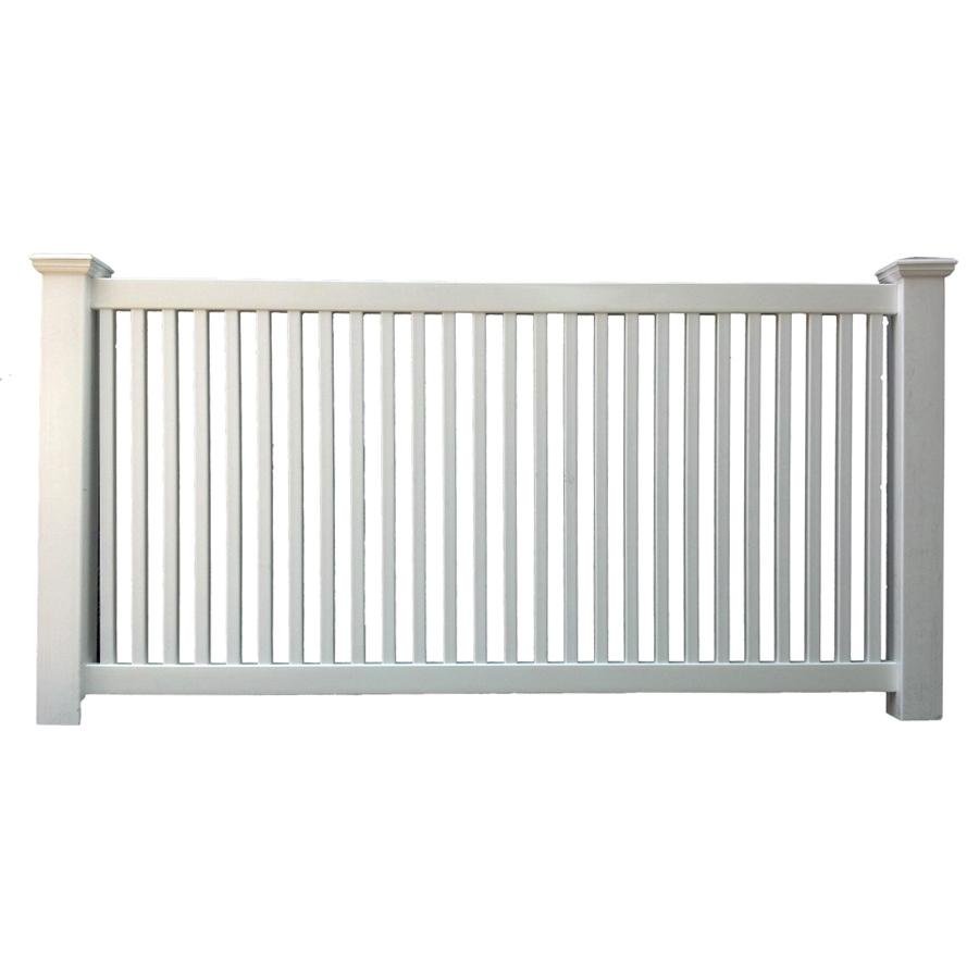 Shop Boundary Delaware 4 Ft X 8 Ft White Stockade Picket