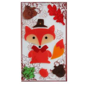 Holiday Living Gel Fox Window Cling Indoor Thanksgiving Decoration LW72-GXJE118
