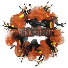 Holiday Living 24-in Indoor/Outdoor Candy Corn Artificial Halloween Wreath LW01-GHMR147