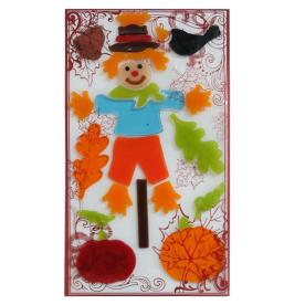 Holiday Living Gel Scarecrow Window Cling Indoor Thanksgiving Decoration LW72-GXJE111