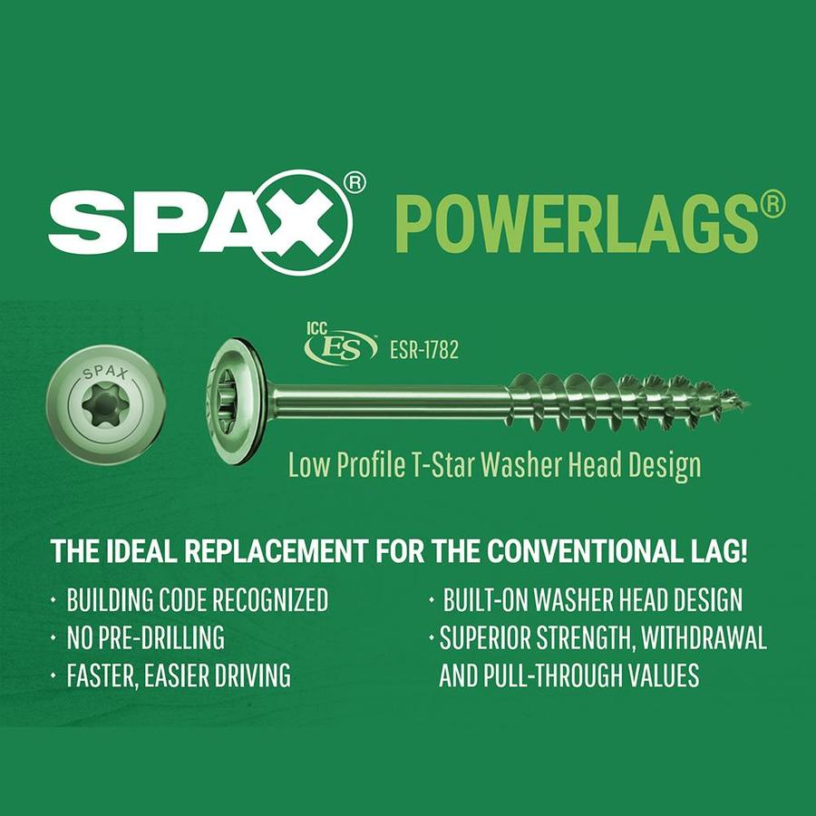 Spax 1 4 X 6 In Spax Powerlag Washer Head T Star Hcr High Corrosion Resistant Coated Screw Contractor Pax 50ct In The Lag Screws Department At Lowes Com