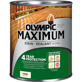MAXIMUM Pre-Tinted Canyon Brown Transparent Exterior Stain (Actual Net Contents: 32-fl oz) - Olympic 56505A/04