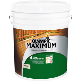 MAXIMUM Pre-Tinted Canyon Brown Transparent Exterior Stain (Actual Net Contents: 640-fl oz) - Olympic 56505A/05
