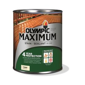 MAXIMUM Pre-Tinted Canyon Brown Transparent Exterior Stain (Actual Net Contents: 32-fl oz) - Olympic 57505A/04