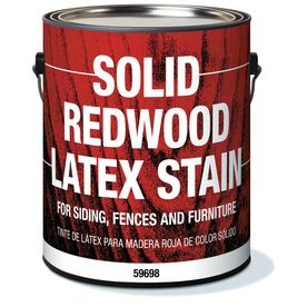Olympic Solid Redwood Latex Stain