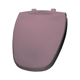 Shop Bemis Dusty Rose Plastic Round Toilet Seat At Lowes Com