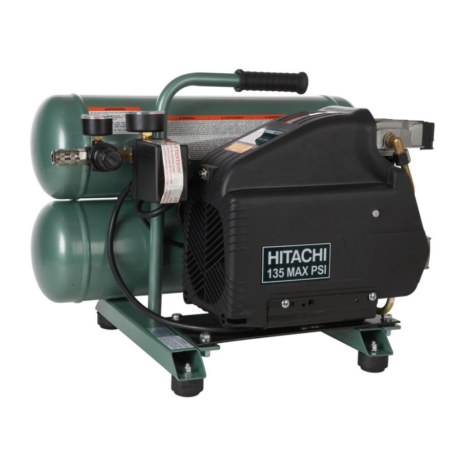 Shop Hitachi 4 Gallons Twin Stack Electric Air Compressor