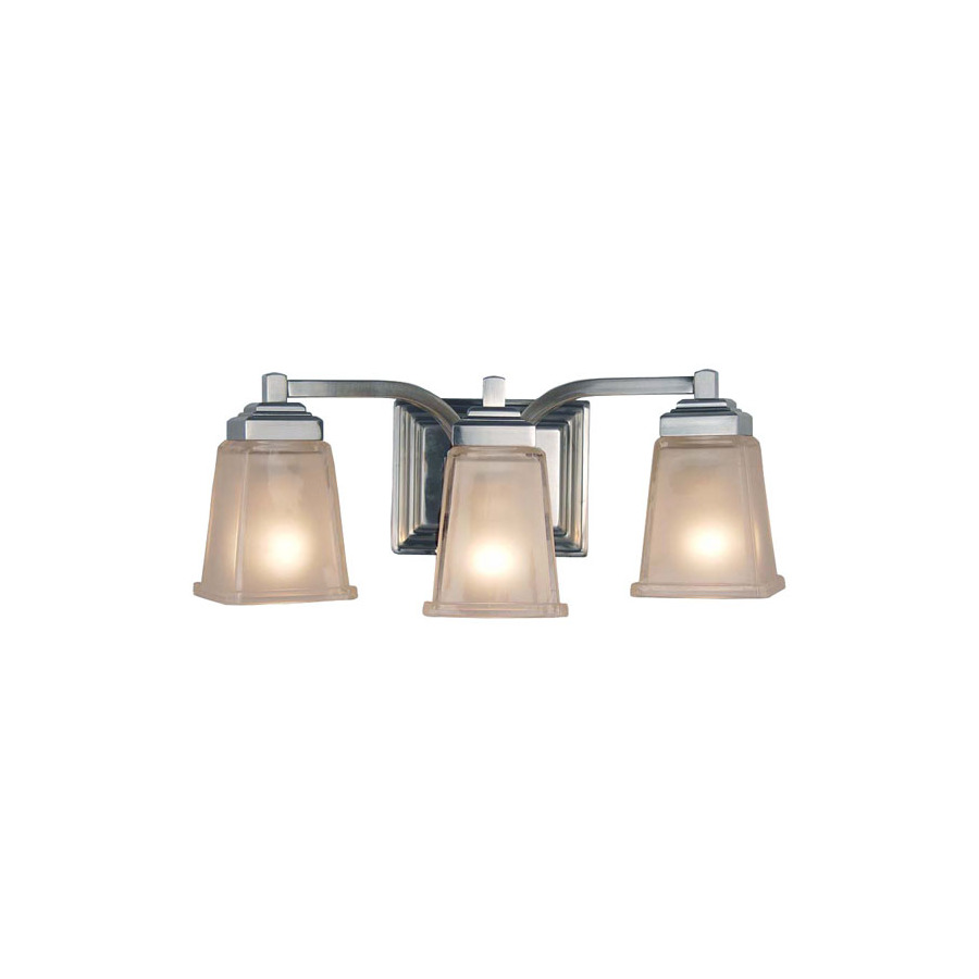 Shop allen + roth 3-Light Elloree Brushed Nickel Bathroom ...